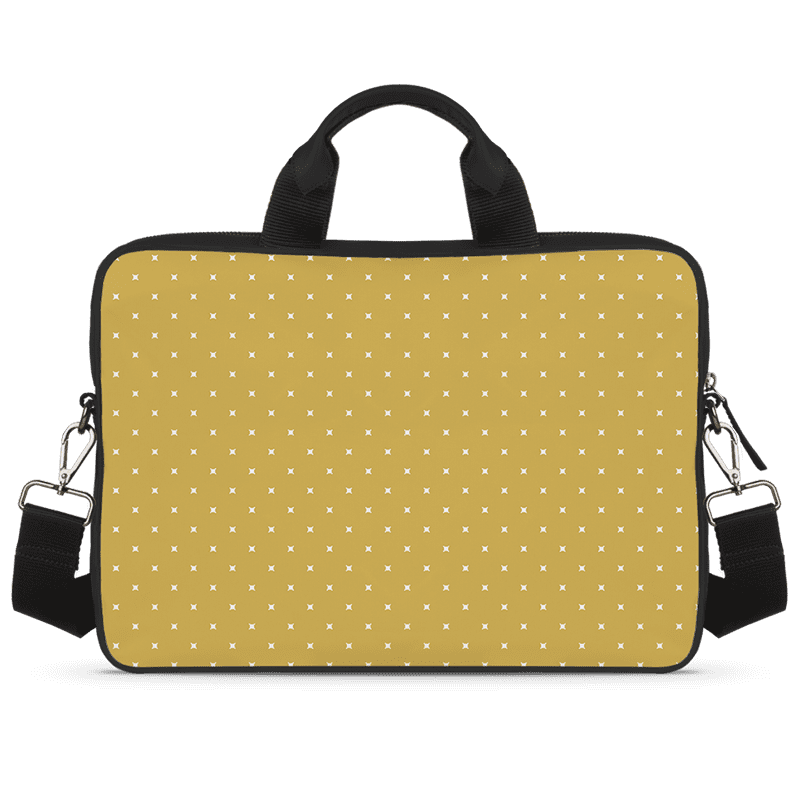 White Spots Jade Black Laptop Briefcase