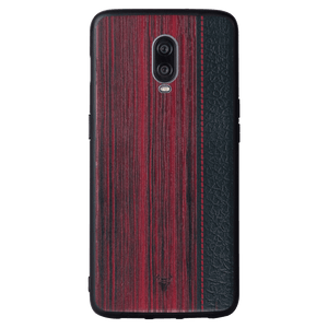 Wooden Barcode Case For OnePlus 6T