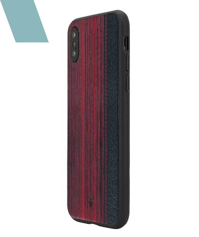 Wooden Barcode Case For iPhone X