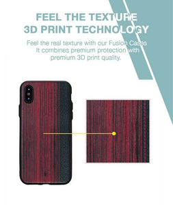 Wooden Barcode Case For iPhone Xs