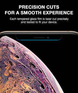 Screen & Back Tempered Glass Film For iPhone XS Max