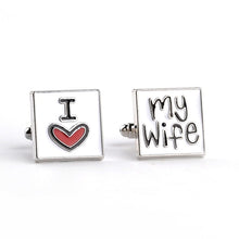 I Love My Wife Cufflinks - KENETIC WAREHOUSE
