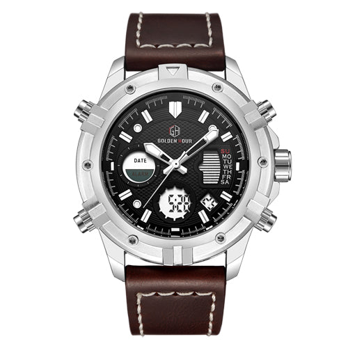 Sports Leather Watch - KENETIC WAREHOUSE