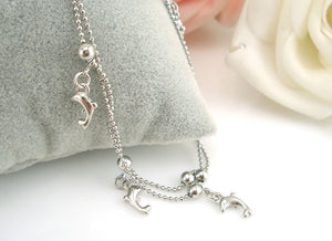 Silver Dolphin Anklet - KENETIC WAREHOUSE