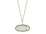 Freeformed Aqua CZ Slice Necklace - Royal Loot