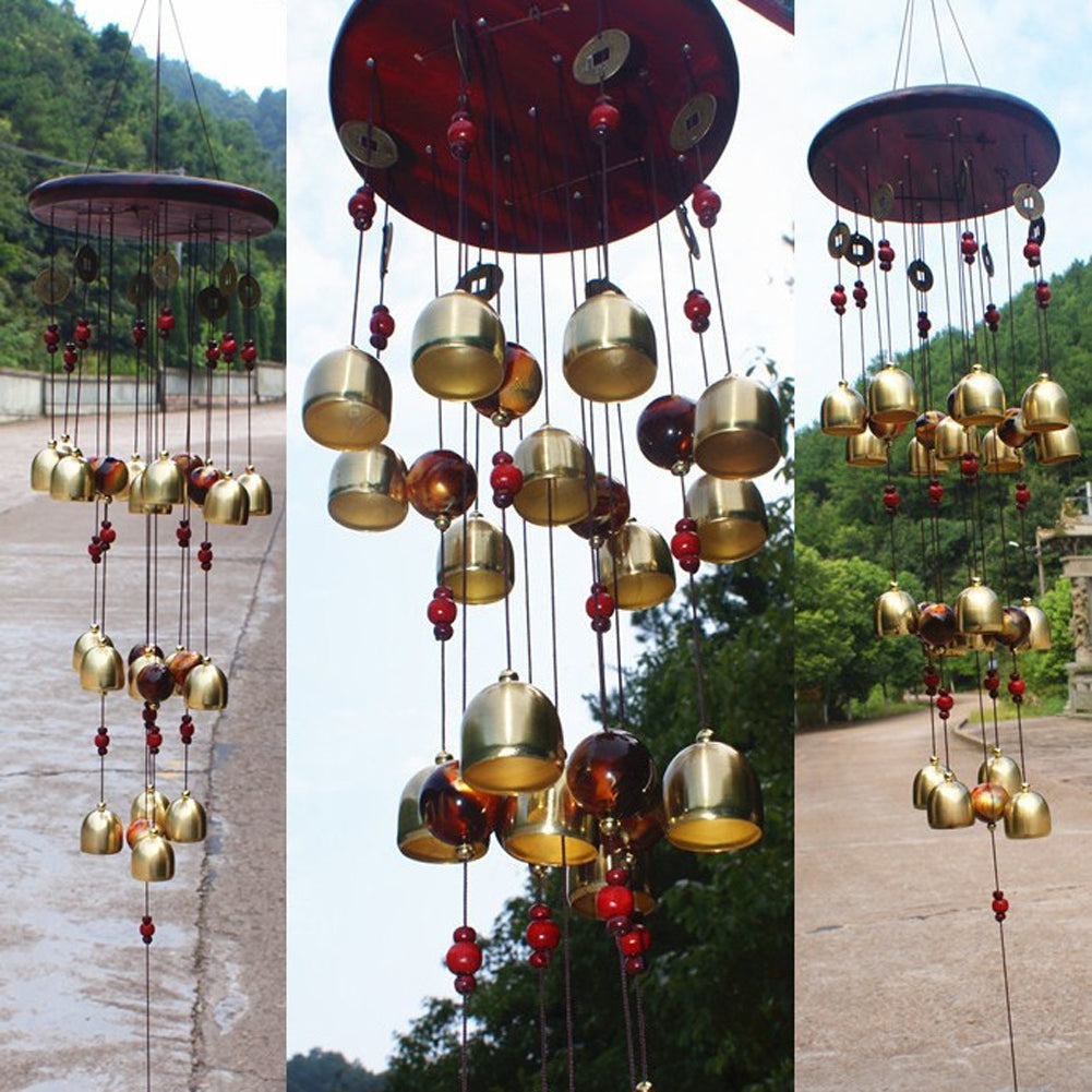 18 Bells Copper Wind Chimes - Royal Loot
