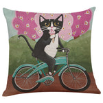 Gathering Flowers Cat Pillow Case - Royal Loot
