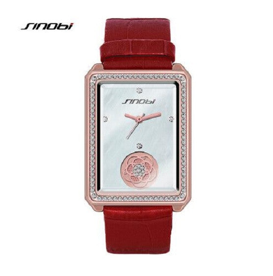 Luxury Fashion Diamond Rectangular Ladies Watch - Royal Loot