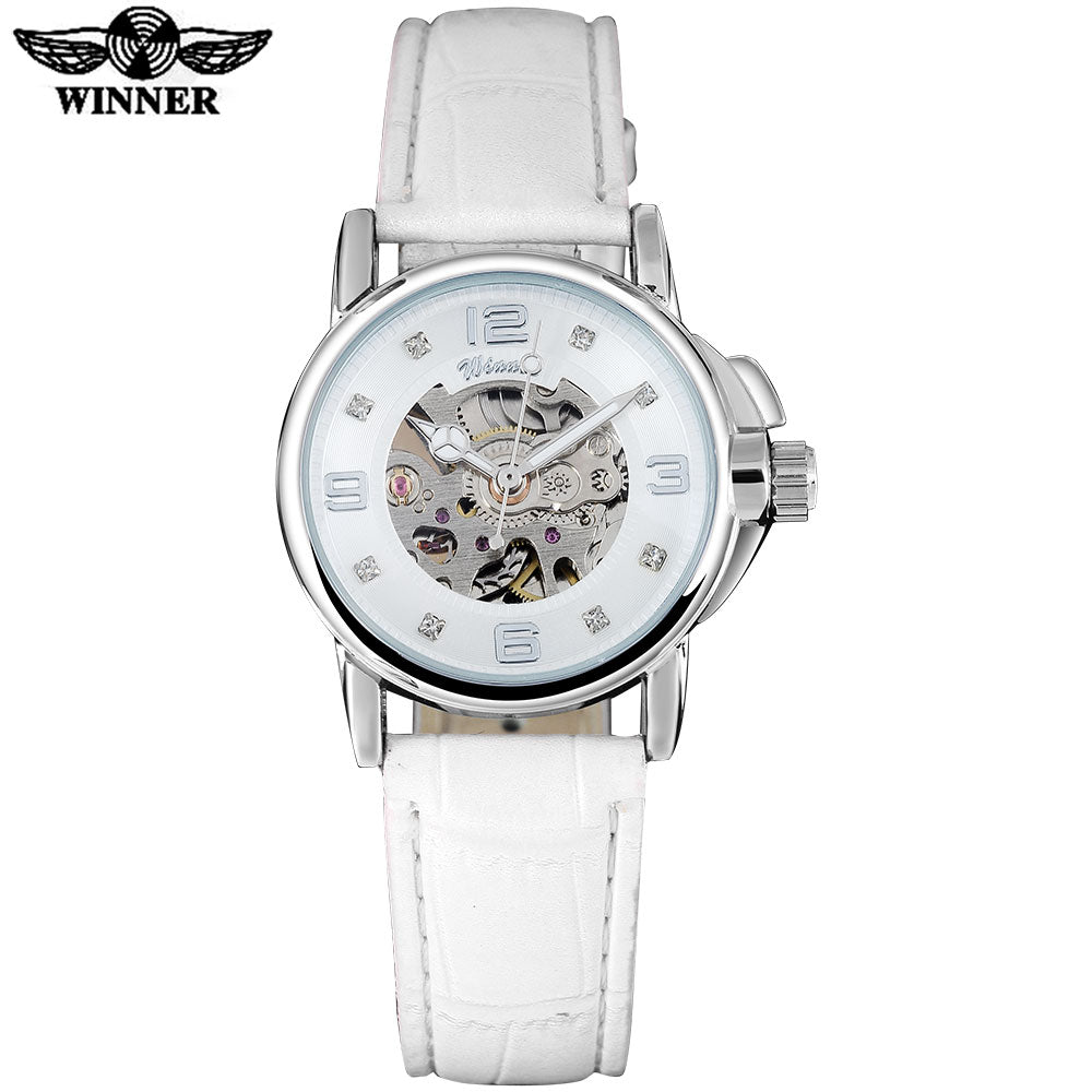 The Winner Brand  Womens Skeleton Mechanical Watch - Royal Loot