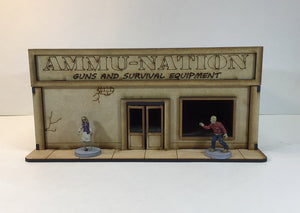 Ammu-Nation Shop 28mm Terrain Building MDF Kit v2