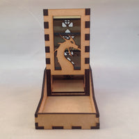 Dragon Mini Dice Tower v2 Glass Green 1b