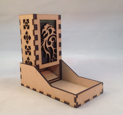 Dragon Mini Dice Tower v3 Green 1a