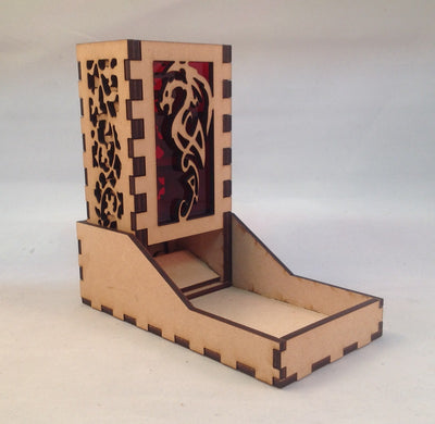 Dragon Mini Dice Tower v4 Red 1a