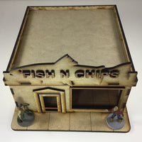 Fish N Chips Shop 28mm Building Kit