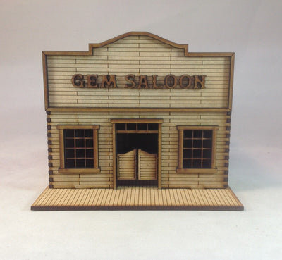 Gem Saloon 28mm Old West Building