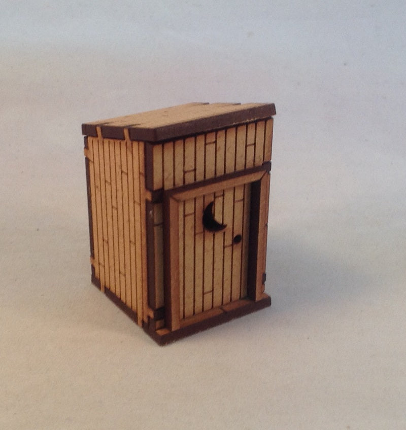 Outhouse 28mm Old West Terrain