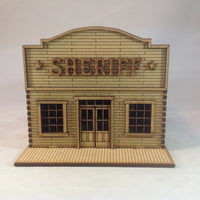 Sheriff's Office 28mm Wild West Western Building Kit