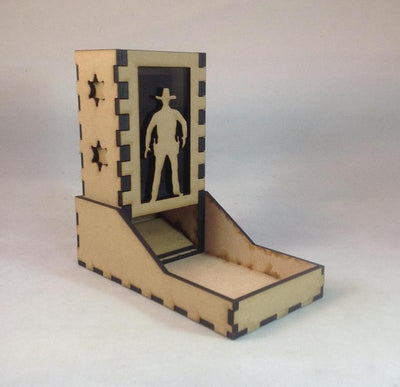Sheriff Cowboy Dice Tower v2