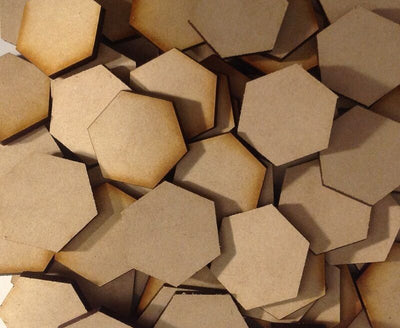 Hex Bases MDF Wooden