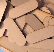 Pill Shaped Bases MDF Wooden