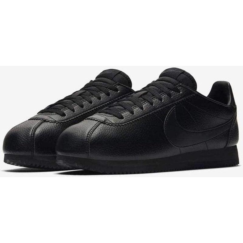 Cheap Nike Classic Cortez Leather Black-Anthracite SHOES