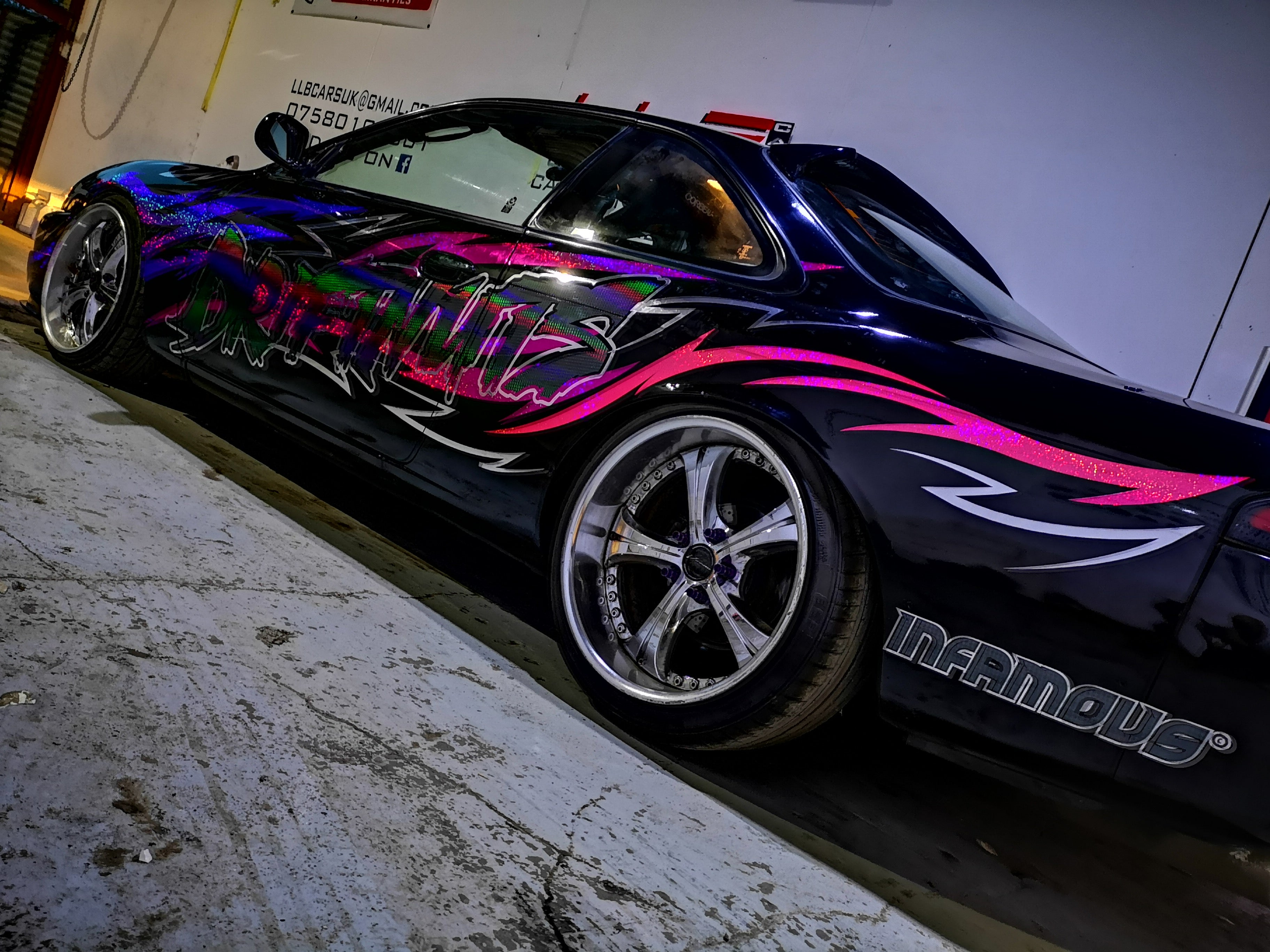 Driftnuts 2018 Full vehicle LIVERY! Triple glitter, plus chrome plus rainbow prismatic! Super Japan.