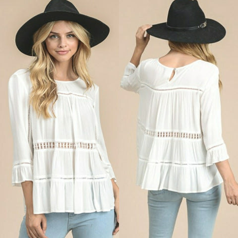Off White Swing Blouse