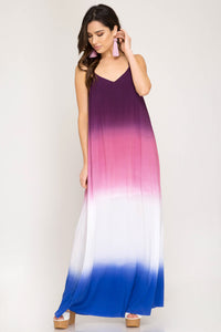 Multi Color Ombre Maxi Dress