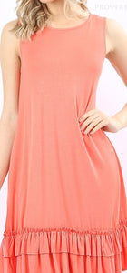 Coral Basic Sundress