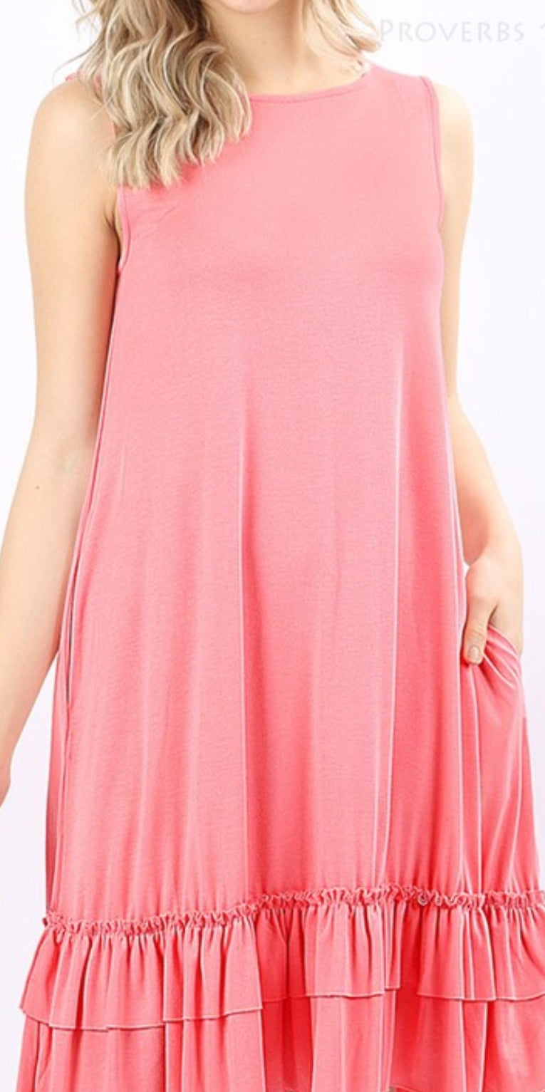 Pink Basic Sundress