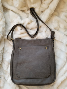 Gray Gayle Large Adjustable Crossbody