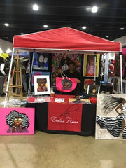 Artist Diedria Pigues showcasing at her booth during the Soulful Food Truck Festival in Memphis TN