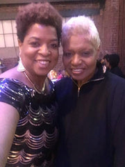 Artist Diedria Pigues and Memphis broadcaster Bev Johnson at the St. Jude Spirit of the dream event in Memphis TN