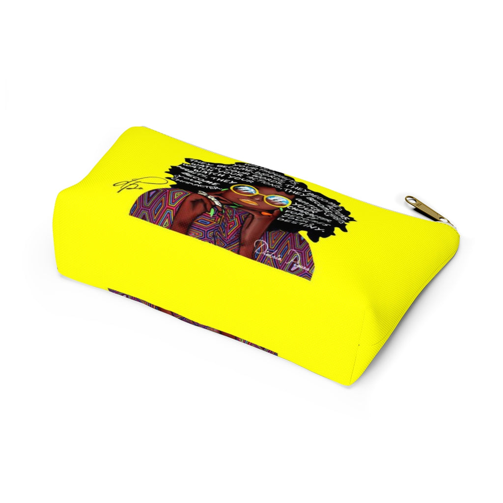 Watch Your Thoughts Yellow Accessory Pouches