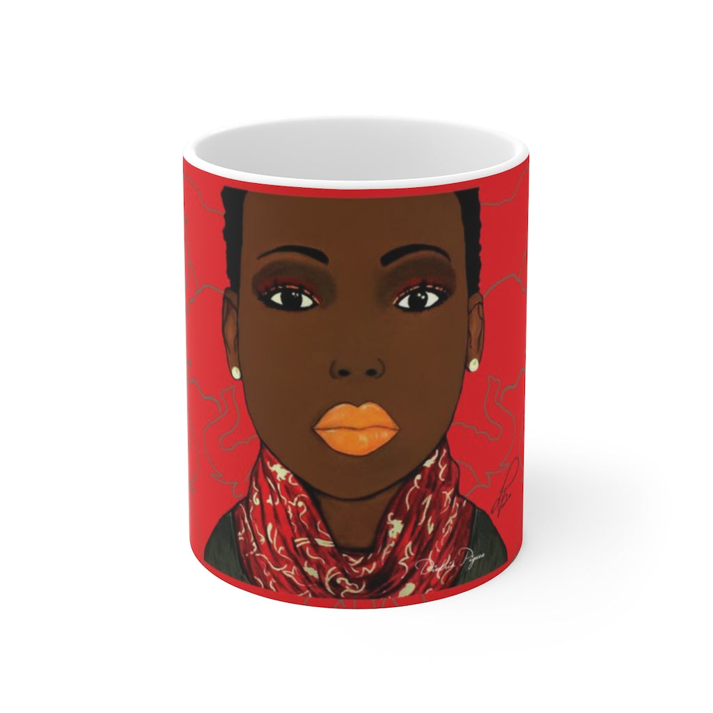 Crimson Beauty Ceramic Mug