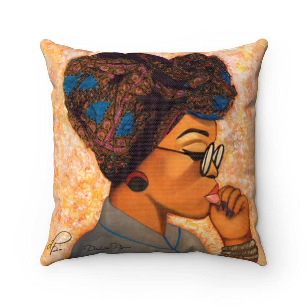 Deep In Thought Square Pillow