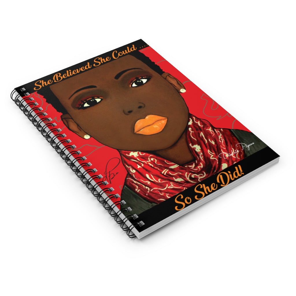 Crimson Beauty Spiral Notebook - Ruled Line