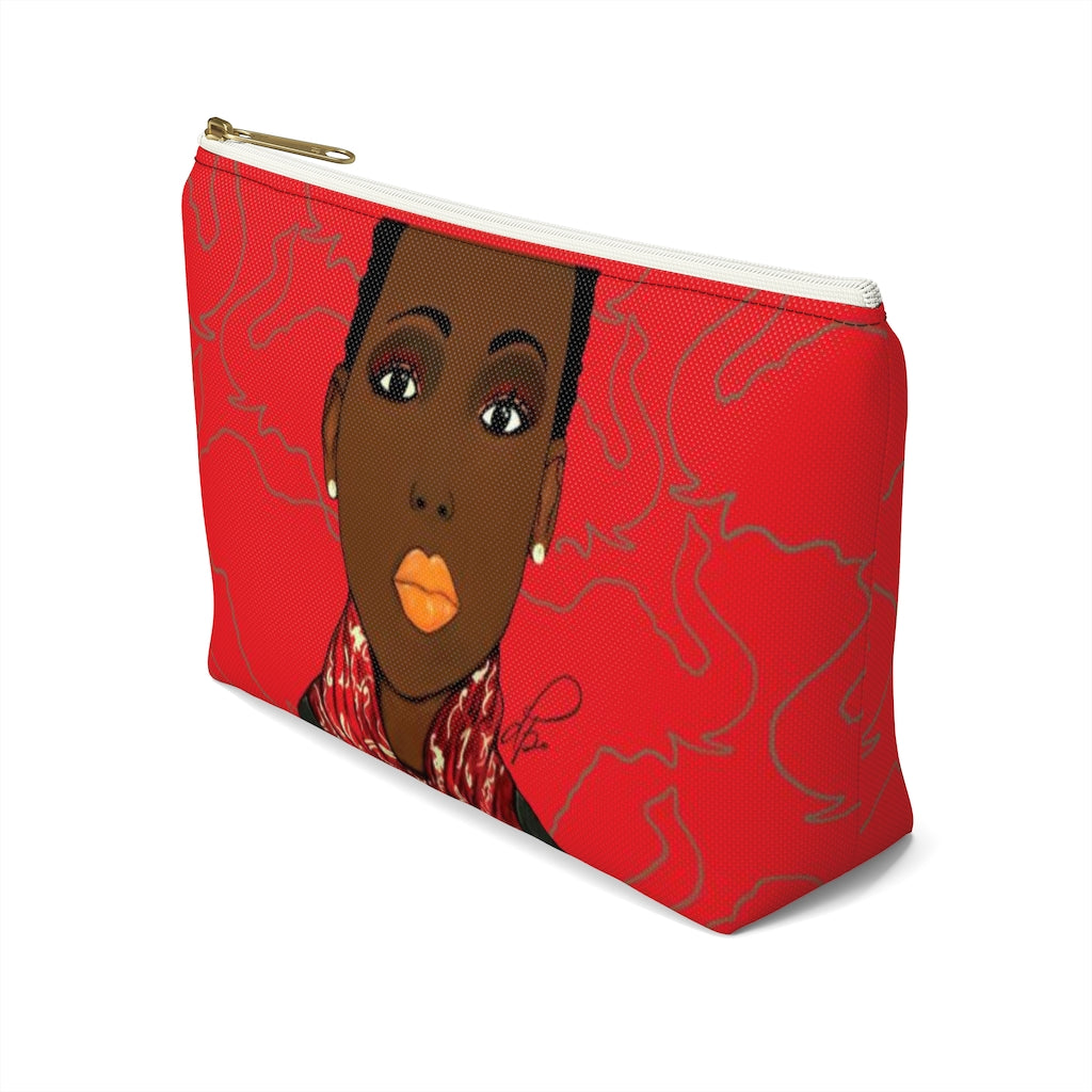 Crimson Beauty Accessory Pouches