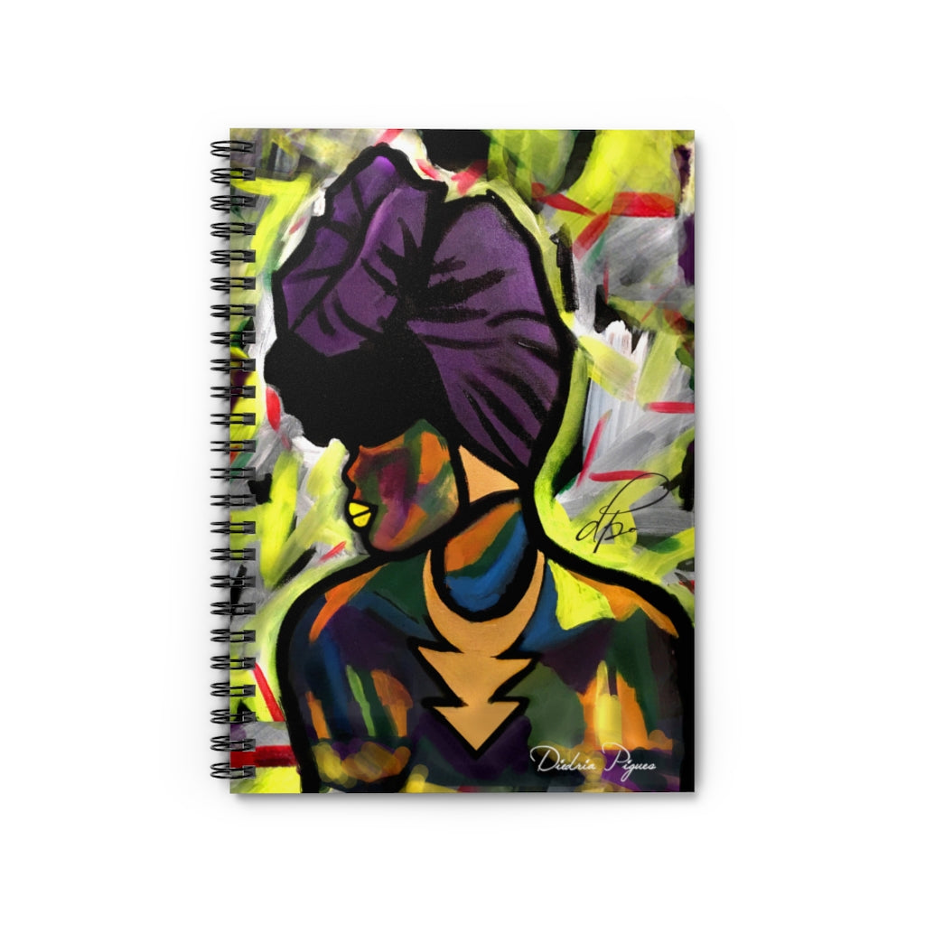 Mixed Melanin Spiral Notebook - Ruled Line