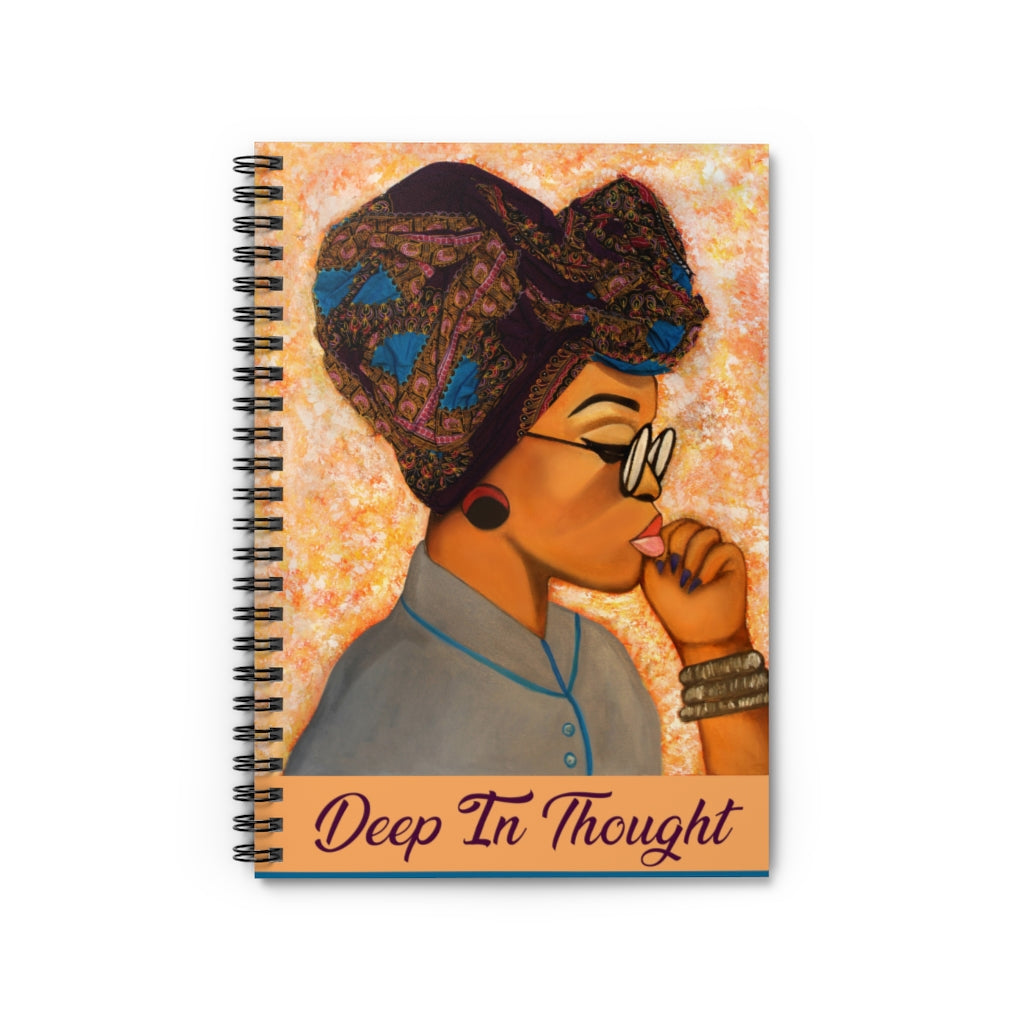 Deep In Thought Spiral Notebook - Ruled Line