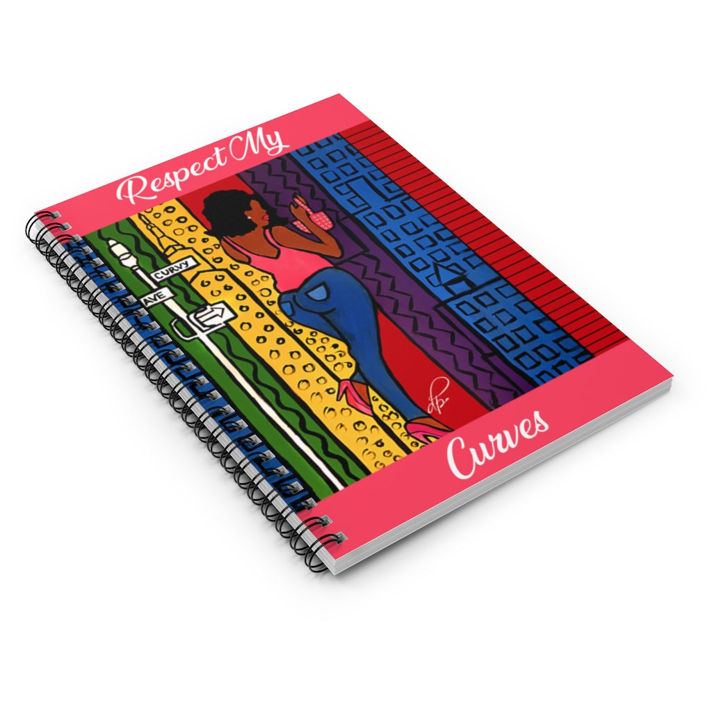 Respect My Curves Spiral Notebook - Ruled Line