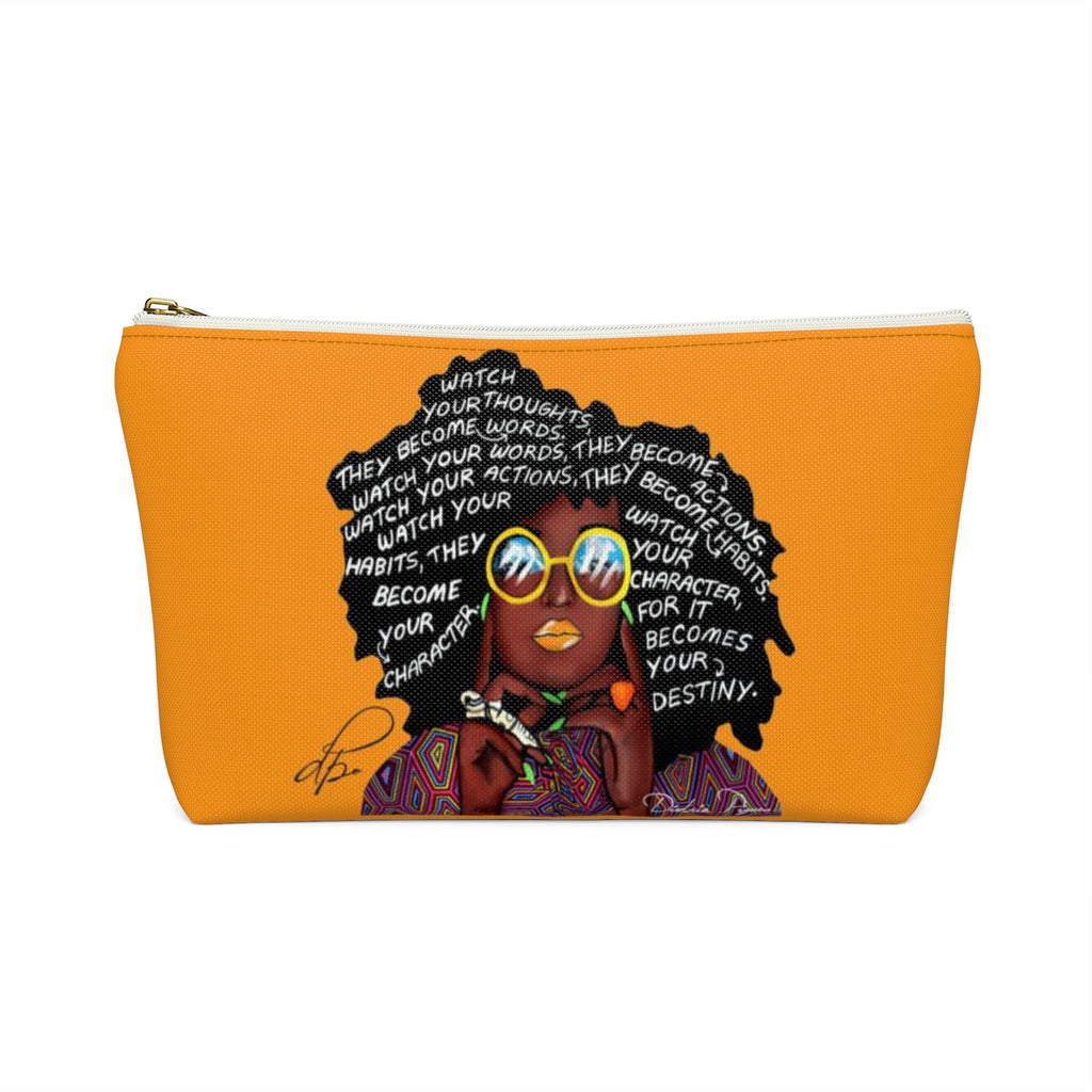 Watch Your Thoughts Orange Accessory Pouches