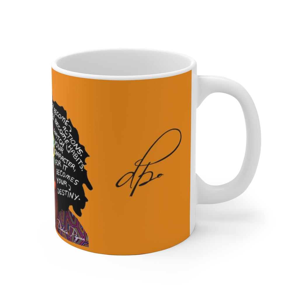 Watch Your Thoughts Orange Ceramic Mug