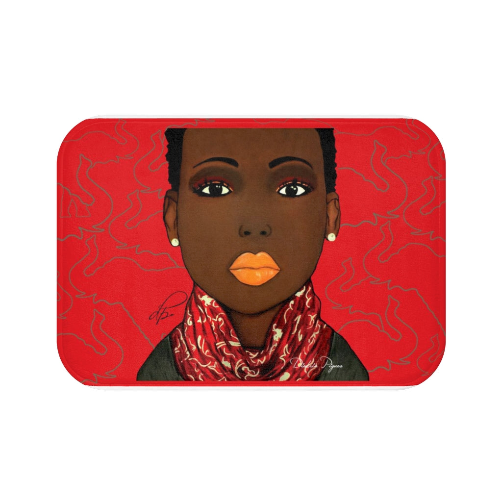 Crimson Beauty Bath Mat