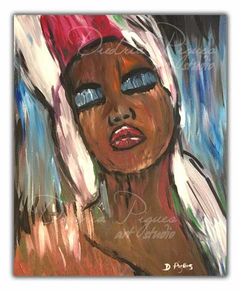 Original Acrylic Painting titled Faded Dreams by artist Diedria Pigues