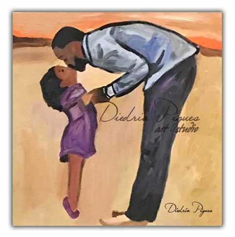 Original Acrylic Painting titled Fatherly Love by artist Diedria Pigues