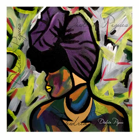 Original Acrylic Painting titled Mixed Melanin by Artist Diedria Pigues