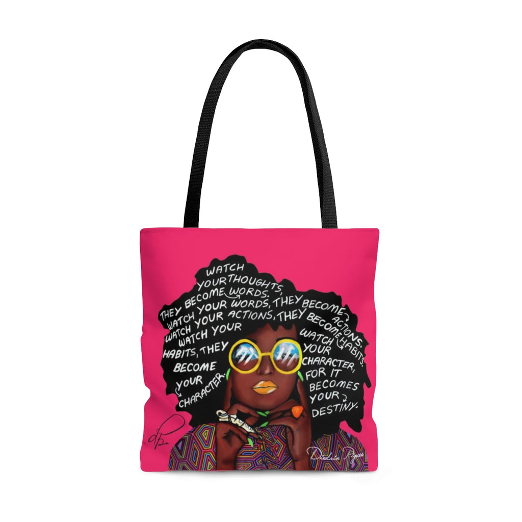 Watch Your Thoughts Pink Tote Bag