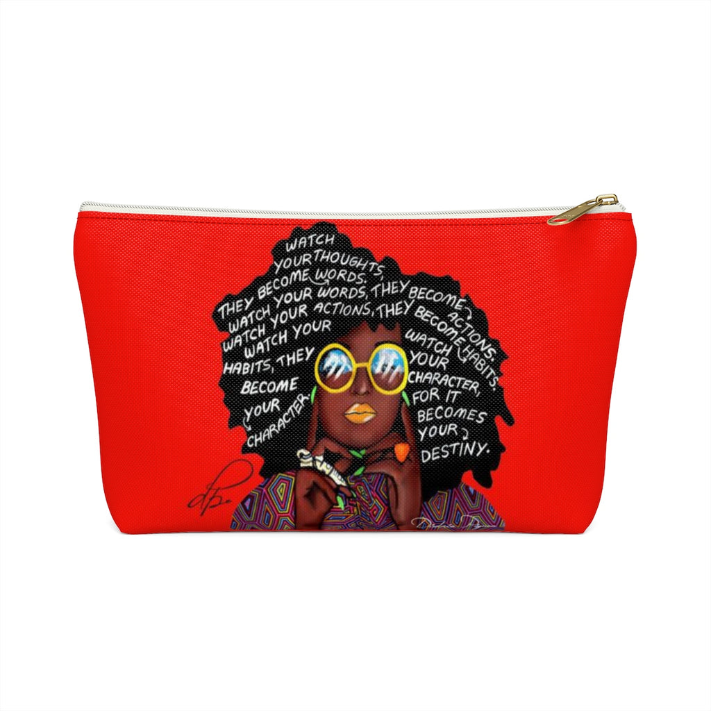 Watch Your Thoughts Red Accessory Pouches