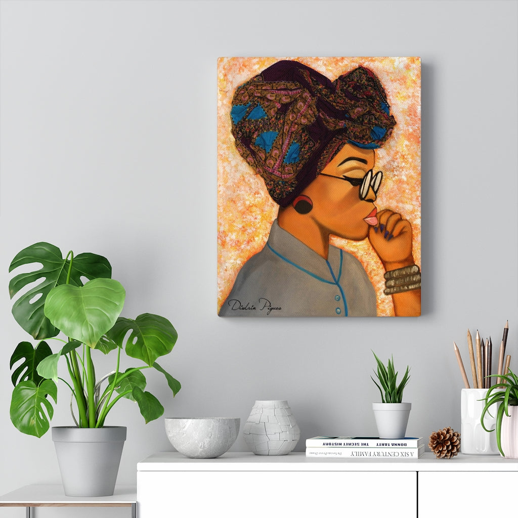 Deep In Thought Canvas Gallery Wrap